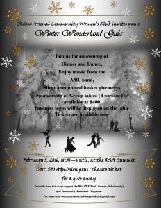 Winter Wonderland Gala Flyer